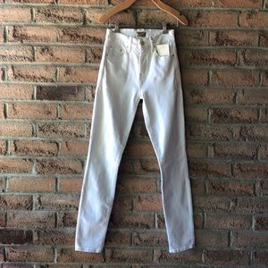 MOTHER   Creamy white high rise skinny jean
